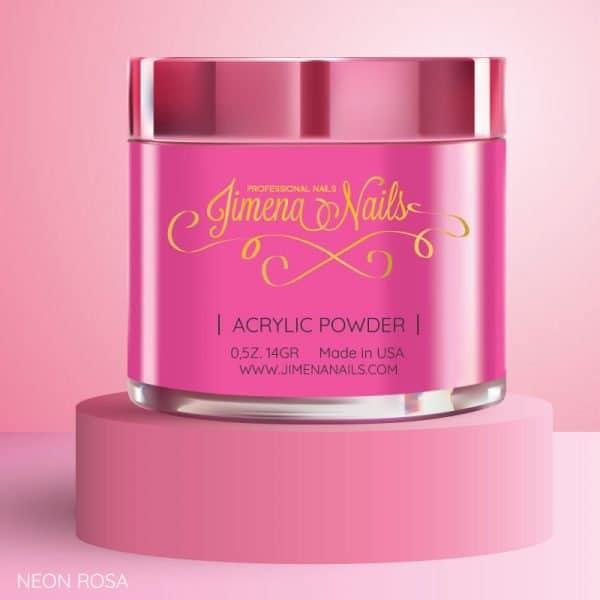 acrilico neon rosa jimena nails